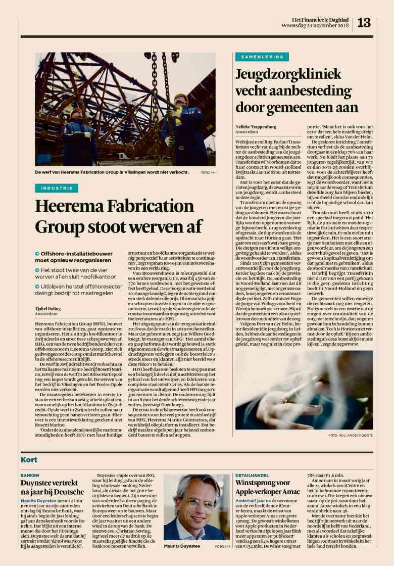 Krant | Het Financieele Dagblad