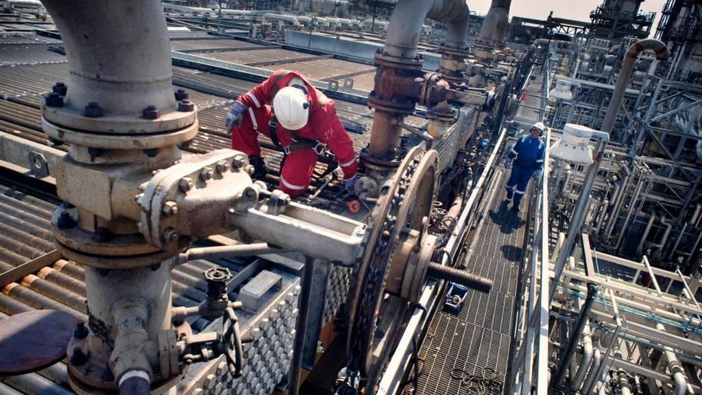 Olieproductie in Venezuela.
