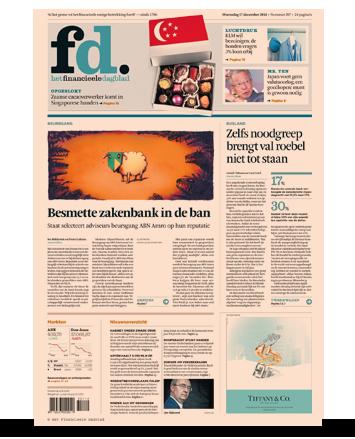 Afbeeldingsresultaat voor financieel dagblad nederland cover