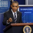 .S. President Barack Obama answers a reporter's question after delivering a statement on the economy in the press briefing room at the White House in Washington February 5, 2016.