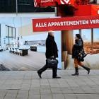 De woningmarkt is aangetrokken, maar over de rest van de economie zijn er tegengestelde signalen. (HH)
