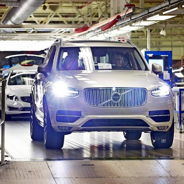 De nieuwe XC90 rolt van de band in de Volvo-fabriek in Torslanda.