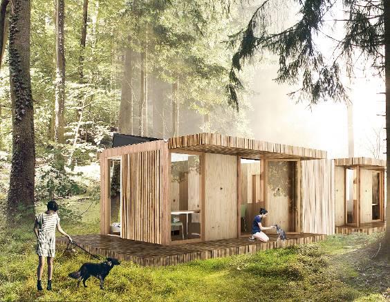 Vijf verplaatsbare huizen het financieele dagblad - Huis in containers ...