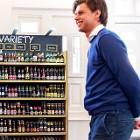 Display met bier staat bij de jaarvergadering van Heineken; een van de Nederlandse multinationals die een stap hebben gezet in de richting van publieke rapportages. foto: HH