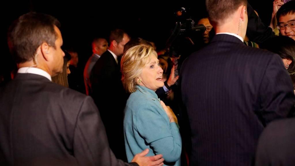 Presidentskandidaat Hillary Clinton aan het fondsenwerven in Piedmont, Californie. foto: Reuters