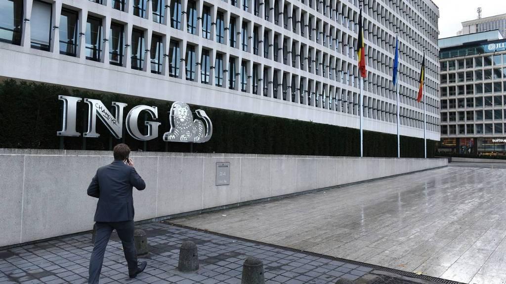 Het hoofdkantoor van ING België in Brussel. foto: HH