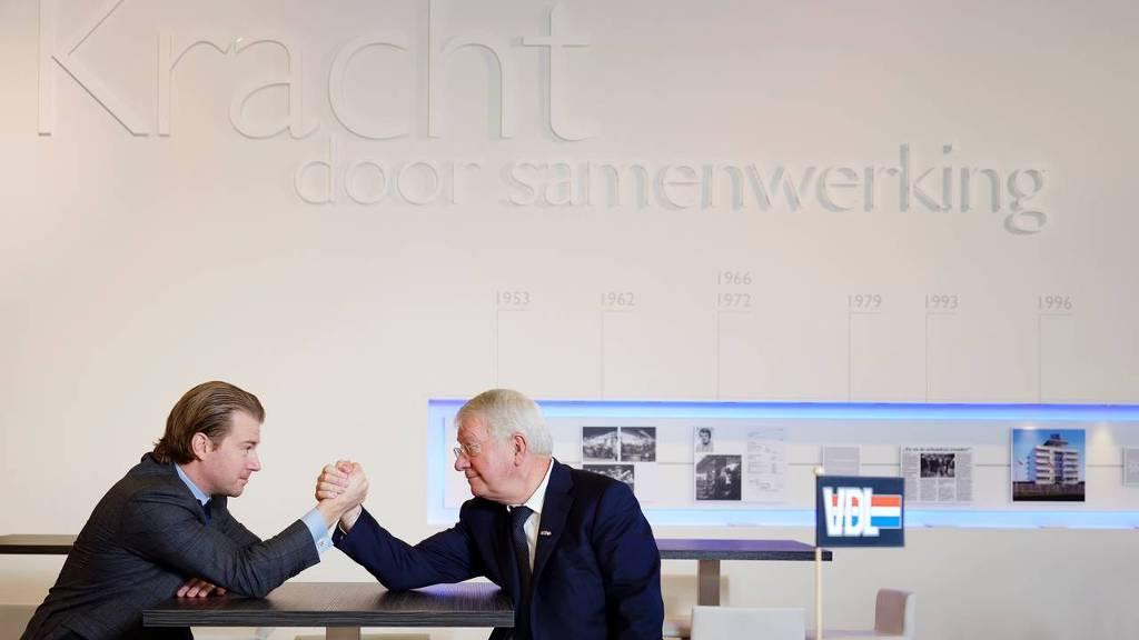 Willem en Wim van der Leegte (Foto: Bart van Overbeeke/Hollandse Hoogte)