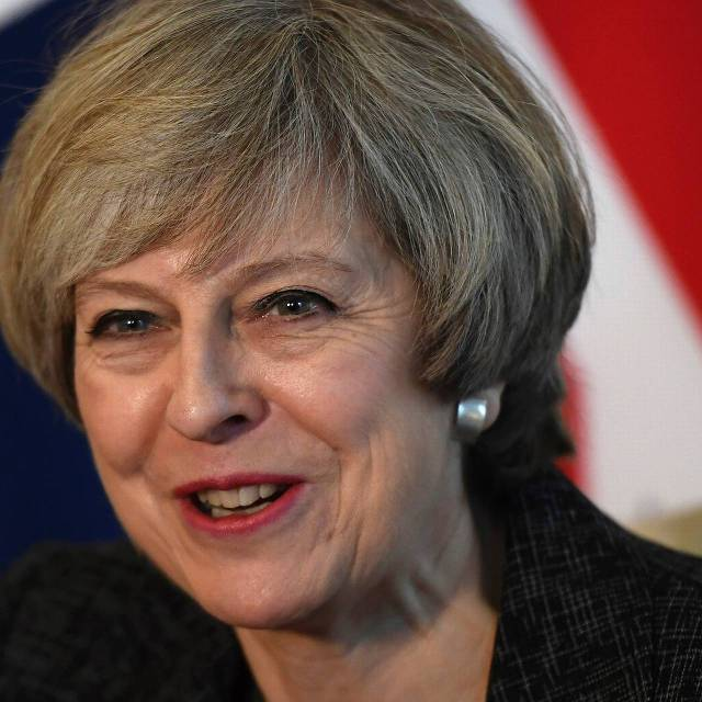 De Britse premier Theresa May. foto: Reuters